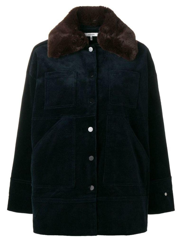 Ganni Ridgewood corduroy jacket - Blue
