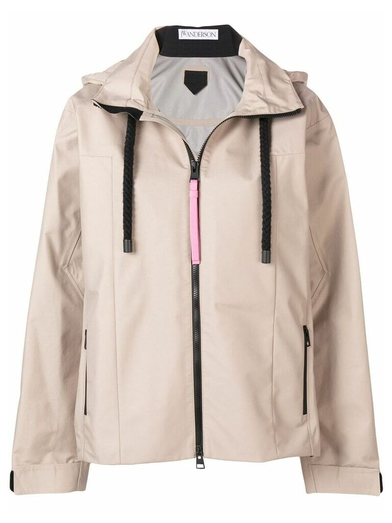 JW Anderson hooded jacket - Nude & Neutrals