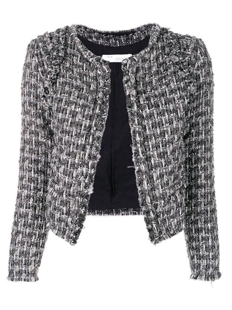 Iro cropped tweed jacket - Grey
