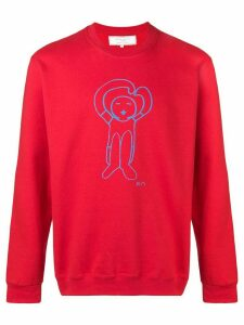 Société Anonyme logo print sweatshirt - Red