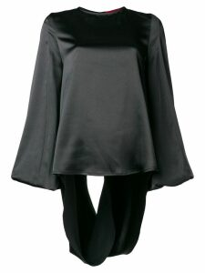 Rouge Margaux open back blouse - Black