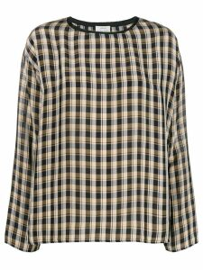 Forte Forte check long-sleeve blouse - Black
