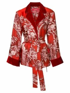 F.R.S For Restless Sleepers floral tie waist blouse - Red