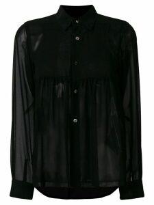 Comme Des Garçons Comme Des Garçons sheer long sleeve blouse - Black