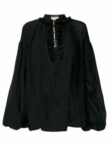 Saint Laurent sheer loose blouse - Black