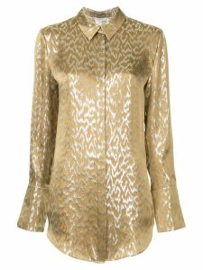 Layeur longsleeved printed blouse - Metallic