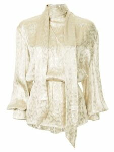 Layeur bow tie blouse - Metallic