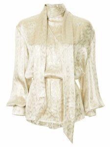 Layeur bow tie blouse - Metallic