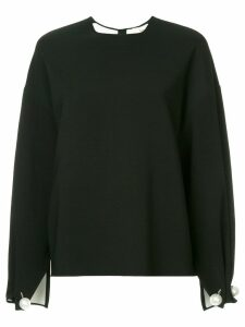 Ports 1961 pearl embellished oversized blouse - Black