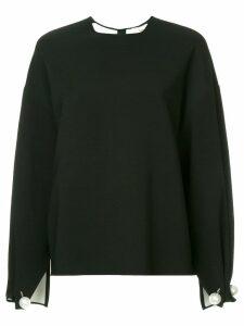 Ports 1961 pearl embellished oversized blouse - Black