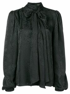 Saint Laurent neck-tied long sleeve blouse - Black