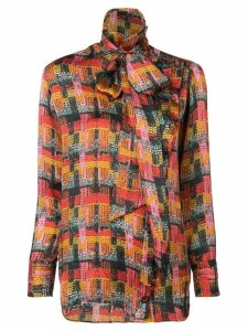 Adam Lippes removable scarf blouse - Red