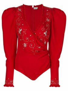 Magda Butrym embroidered bodysuit