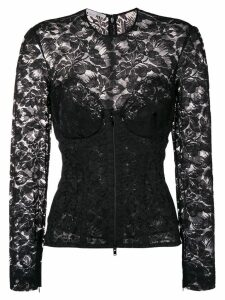 Stella McCartney lace detail blouse - Black
