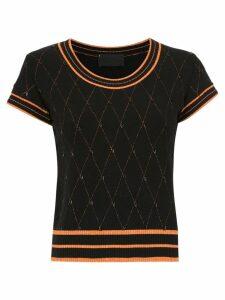 Andrea Bogosian embroidered knit blouse - Black