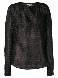 Faith Connexion embellished sheer blouse - Black
