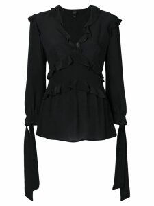 Pinko tied cuff ruffle blouse - Black
