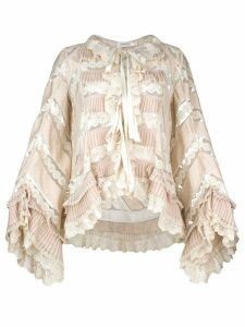 Zimmermann pleated lace blouse - Neutrals