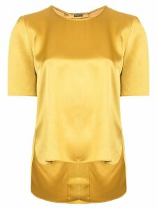 Adam Lippes satin tee - Yellow