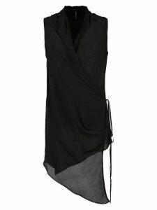 Uma Raquel Davidowicz wrap style Mix tunic - Black