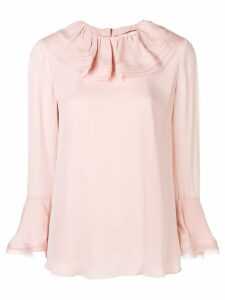 Tory Burch ruffled collar silk blouse - PINK