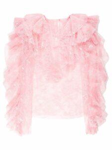 Philosophy Di Lorenzo Serafini ruffle lace trim blouse - Pink