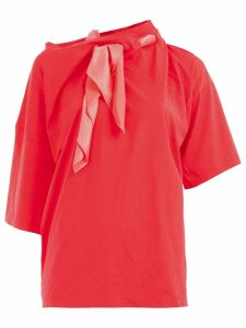 Y/Project scarf neck blouse - Red