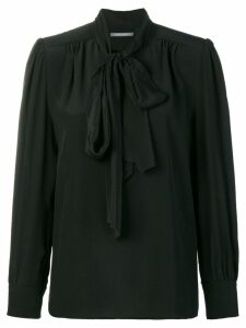 Alberta Ferretti tie neck blouse - Black