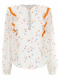 Nk printed silk blouse - White