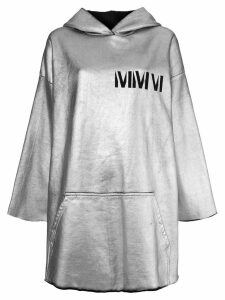 Mm6 Maison Margiela long hoodie - Grey