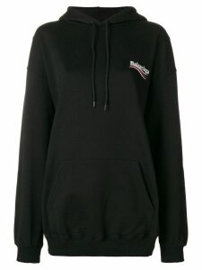 Balenciaga oversized logo hoodie - Black