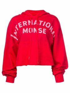 Monse logo print hoodie - Red
