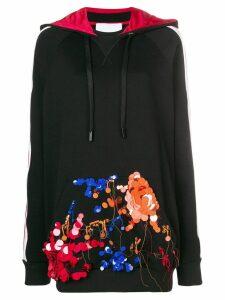 No Ka' Oi embellished pocket hoodie - Black