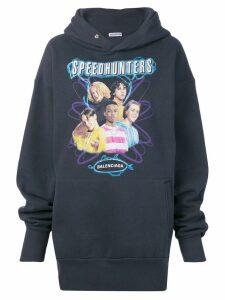 Balenciaga Speedhunters boyband hoodie - Blue