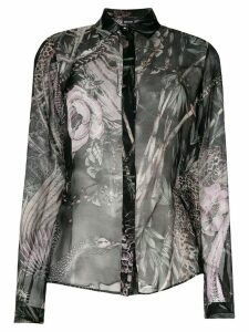 Just Cavalli New World print shirt - Black