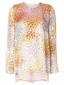 Adam Lippes sheer patterned blouse - Multicolour