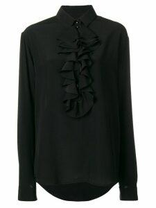 Saint Laurent ruffle bib shirt - Black