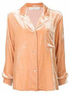 Golden Goose velvet pyjama shirt - PINK
