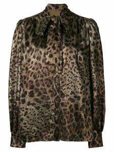 Dolce & Gabbana leopard print blouse - Black