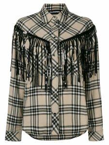 Filles A Papa fringed shirt - NEUTRALS