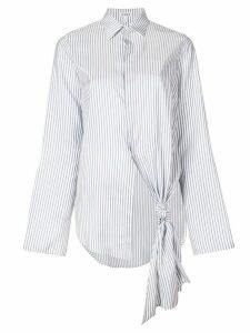 Loewe single knot-detail shirt - White