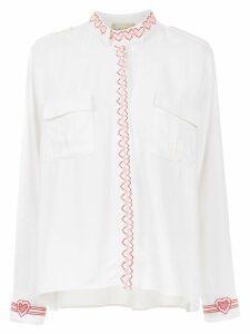 Andrea Bogosian embroidered shirt - White