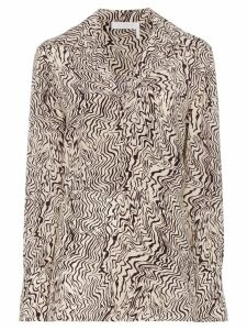 Chloé wave print silk shirt - Brown