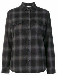Saint Laurent checked button shirt - Grey