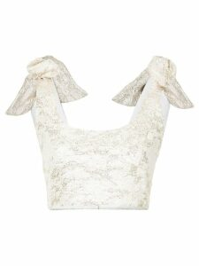 Bambah Camelia bow top - Metallic