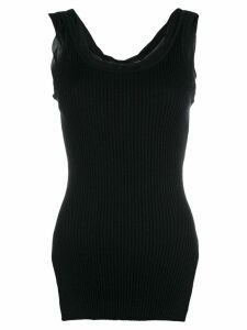 3.1 Phillip Lim ribbed tank top - Black