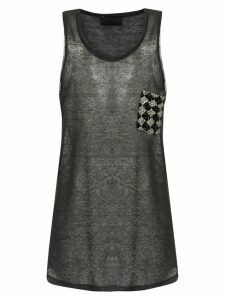 Andrea Bogosian embroidered tank - Grey