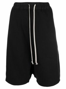 Rick Owens DRKSHDW drawstring drop-crotch shorts - Black