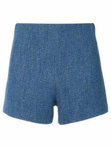 Manning Cartell lurex denim shorts - Blue