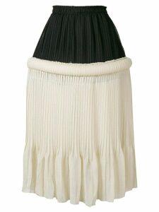 JW Anderson drop-waist knife-pleat skirt - NEUTRALS
